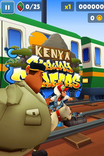 Аркады игры: скачать Subway surfers: Kenya на телефон
