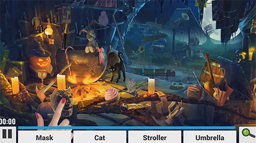 Feste Hidden objects. Halloween games: Haunted holiday auf Deutsch