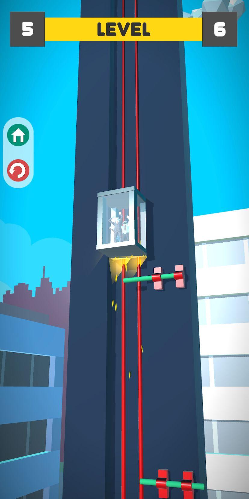 Lift Survival 3D - elevator rescue surviving game скриншот 1