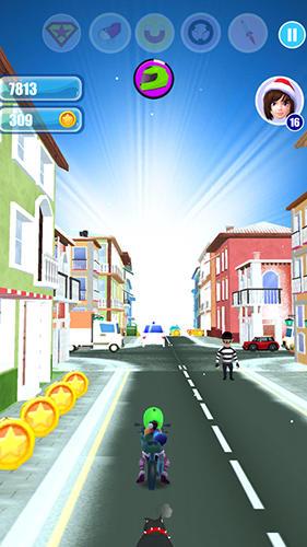 Santa girl run: Xmas and adventures скриншот 1