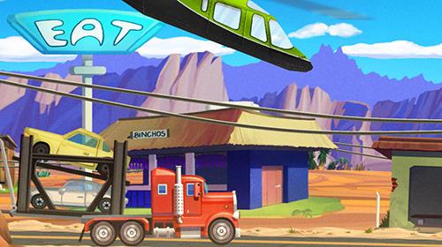 Truck driving race US route 66 Screenshot