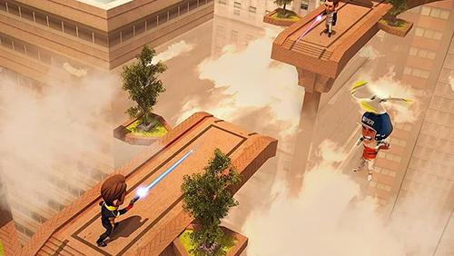 Shooter aus der Vogelperspekti Flying hero escape 3D auf Deutsch