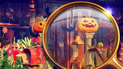 Abenteuer-Spiele Hidden objects. Halloween games: Haunted holiday für das Smartphone