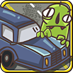 Car smash aliens icon