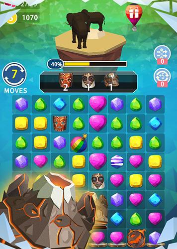 3 Gewinnt-Spiele Match Earth: Age of jewels auf Deutsch