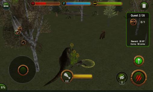 Simulator-Spiele Dinosaur revenge 3D für das Smartphone