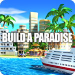 Tropical paradise: Town island. City building sim icône