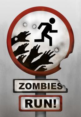 логотип Зомби приближаются, убегайте!