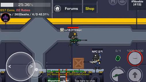 Lostguns: 2D online shooter for Android