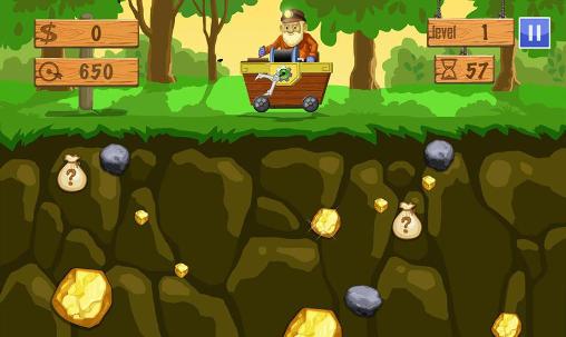 Arcade-Spiele Gold miner deluxe für das Smartphone