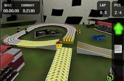 Screenshot Autorennbahn auf dem iPhone
