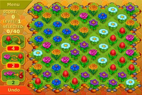 Аркады игры: скачать Flower garden: Logical game на телефон