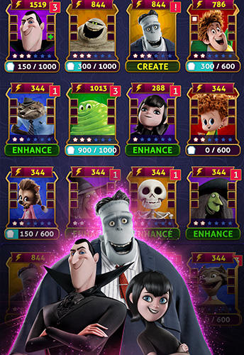 Arcade-Spiele Hotel Transylvania: Monsters! Puzzle action game für das Smartphone