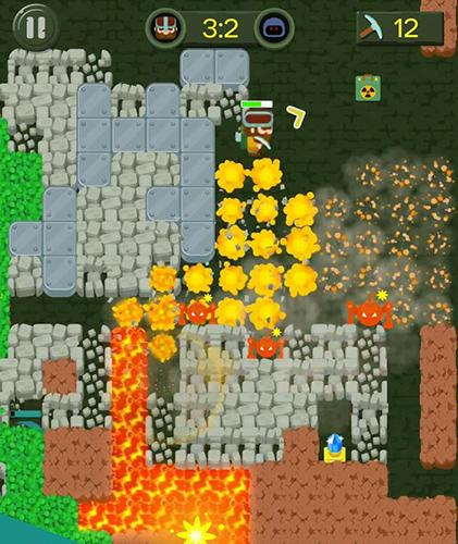 Bomber-Spiele Dig bombers: PvP multiplayer digging fight auf Deutsch