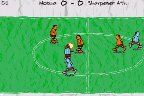 Screenshot Doodle Fußball auf dem iPhone