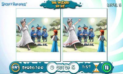 Familien-Spiele The wizard of Oz: Hidden difference auf Deutsch