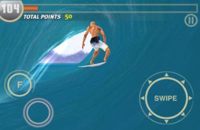 Screenshot Surf-Simulator auf dem iPhone
