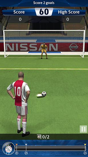 UEFA champions league: PES flick. Pro evolution soccer for Android