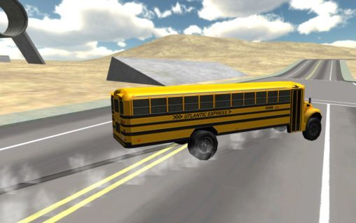 School bus driving 3D auf Deutsch