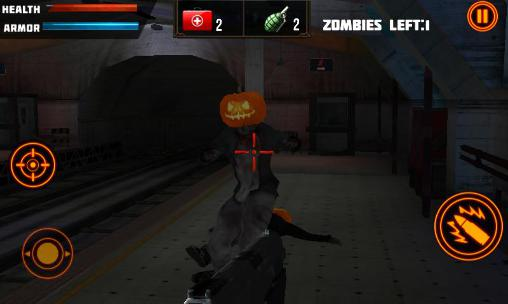 Zombies Halloween warfare 3D скриншот 1