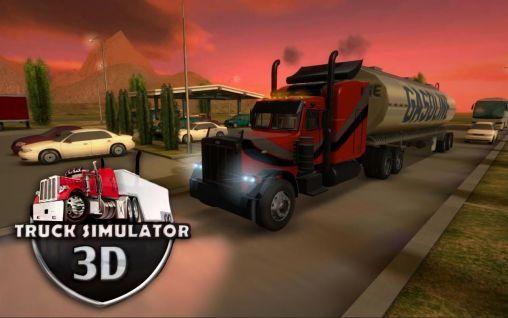 Truck simulator 3D captura de pantalla 1