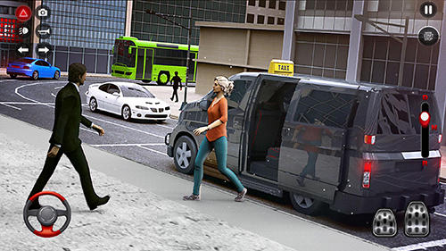 New York taxi driving sim 3D скриншот 3
