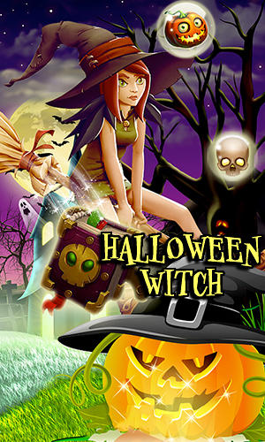 Halloween witch: Fruit puzzle screenshot 1