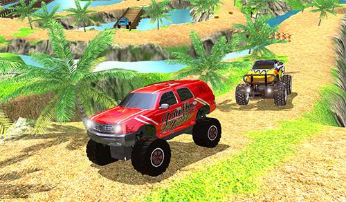 Rennspiele Offroad grand monster truck hill drive für das Smartphone