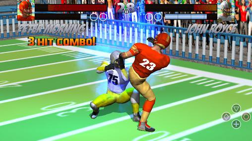 Football rugby players fight for Android