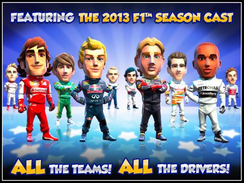 Multiplayerspiele: Lade Formel 1 Rennstars auf dein Handy herunter