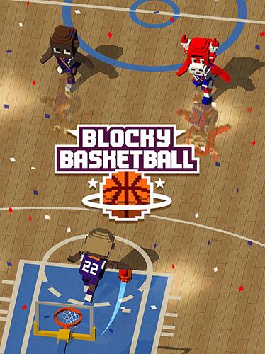 Blocky basketball screenshot 1
