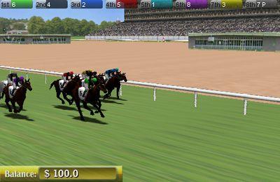 Carrera de caballos virtual 3D para iPhone gratis
