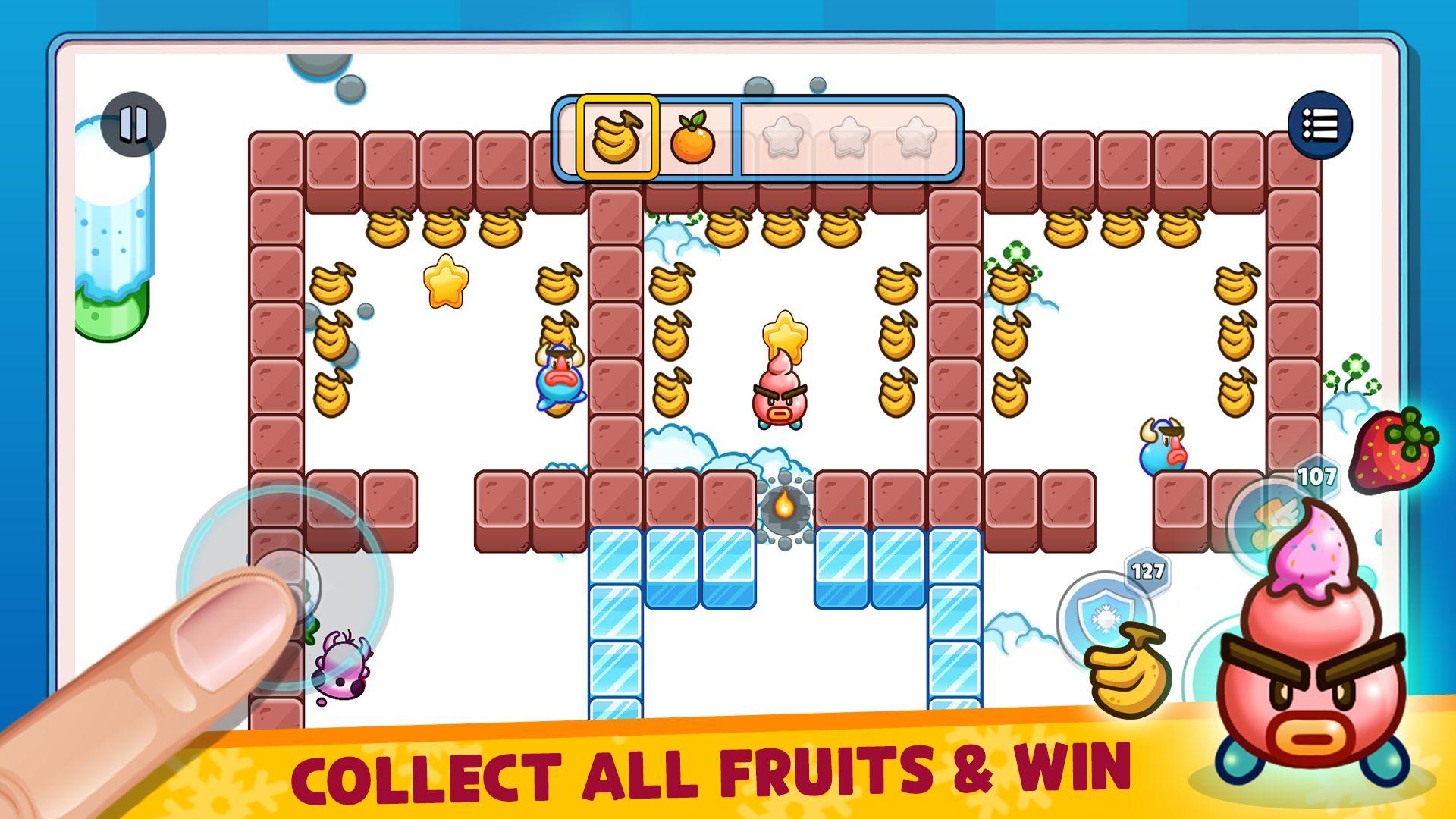 Fruit Ice Cream 2 - Ice cream war Maze Game скріншот 1