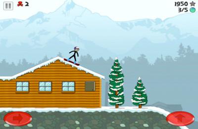 Screenshot Stickman Snowboarder on iPhone