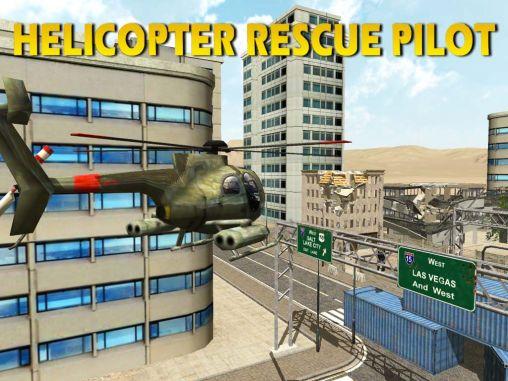 Helicopter rescue pilot 3D capture d'écran 1