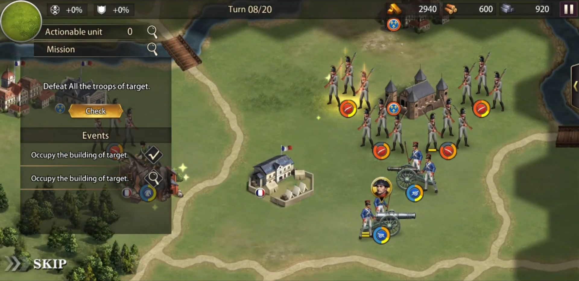 Grand War: Napoleon, War & Strategy Games скріншот 1