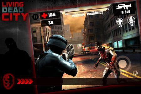 Zombie Shooter Living dead city auf Deutsch