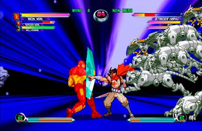 Captura de tela Marvel contra Capcom 2 no iPhone