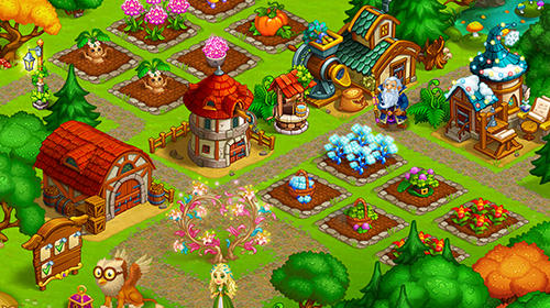 Strategiespiele Farm fantasy: Happy magic day in wizard Harry town für das Smartphone