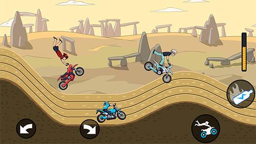 Mad motor: Motocross racing. Dirt bike racing auf Deutsch