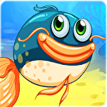 Hungry fish eat HD icon