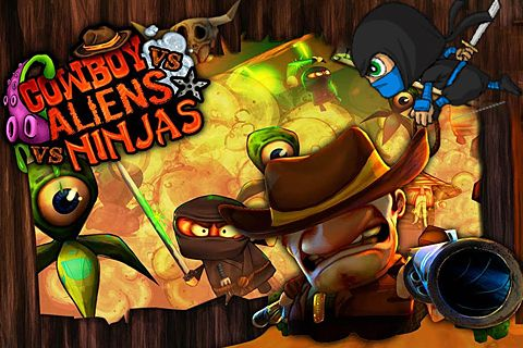 Screenshot Cowboy vs. Ninja vs. Aliens auf dem iPhone