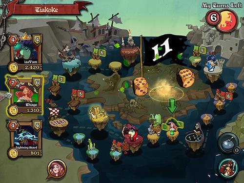 Spiele über Piraten Pirates war: The dice king auf Deutsch