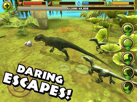 Simulator-Spiele: Lade Jurassic Leben auf dein Handy herunter