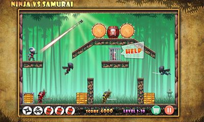 Arcade Ninja vs Samurais für das Smartphone