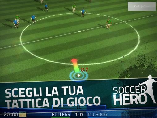 Simulation games Soccer hero for smartphone