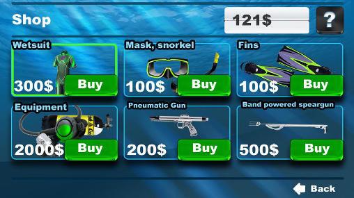 Simulator-Spiele Spearfishing 3D für das Smartphone