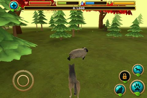 Wildleben Simulator: Wolf auf Deutsch