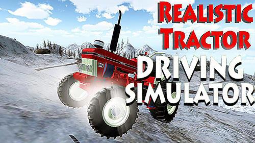 Realistic farm tractor driving simulator icon