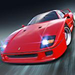Fast car driving Symbol